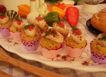 Cupcake Salgado Especial de Carne Seca com Catupiry