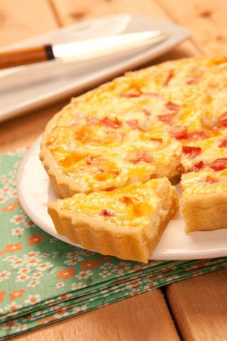Quiche queijo e presunto