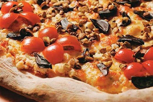 Pizza de alho negro