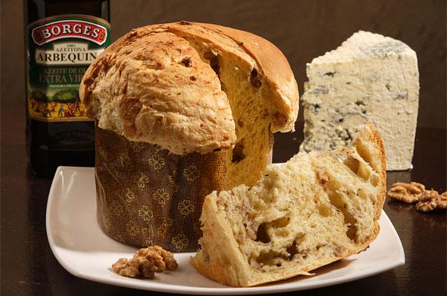 Panetone de nozes, queijos e ervas finas