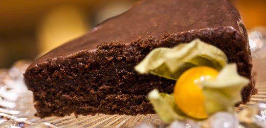 Bolo de chocolate com vinho