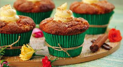 Muffin de Banana e Canela recheado de Catupiry