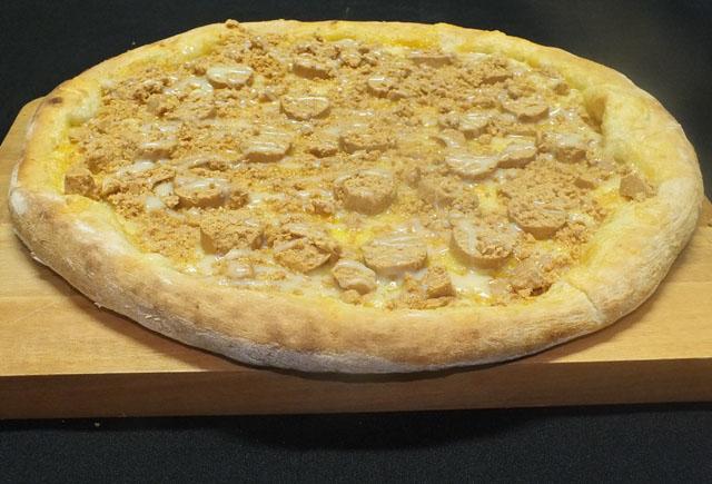 Pizza de paçoca cremosa