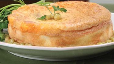 Torta de frango com massa de liquidificador