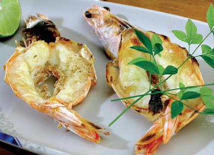 Camarão grelhado com missô (Cozinha Japonesa)