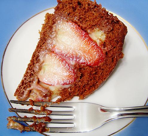 Torta de Morangos Com Chocolate