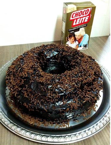 Bolo de chocolate Chocoleite