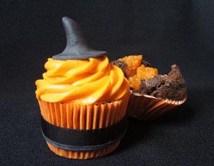 Cupcake de chocolate com abóbora