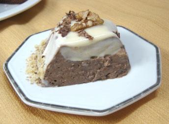 Mousse de Chocolate com recheio de Nozes (zero açúcar)