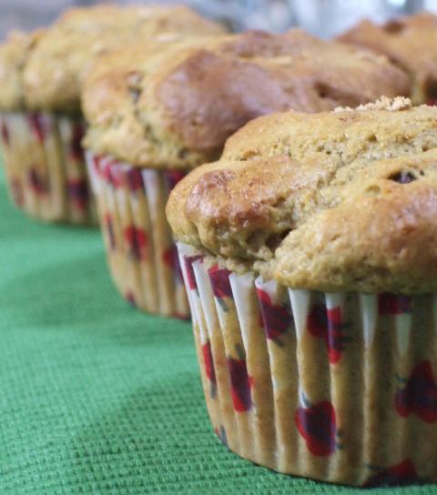 Muffins integrais de abacate