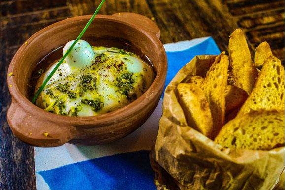 Burrata ao perfume de limão siciliano