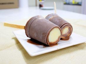 Paletas Mexicanas de Chocolate recheadas com Leite Condensado (Zero Açúcar)