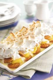 Banana em camadas com marshmallow