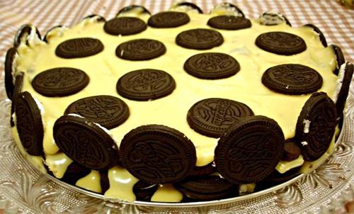 Torta Mosaico - Biscoito Negresco