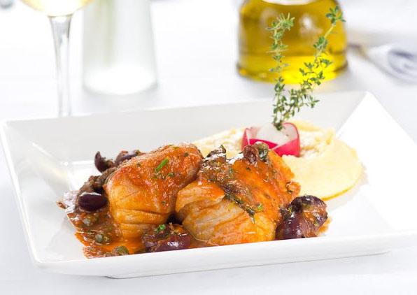Bacalhau com Polenta Cremosa