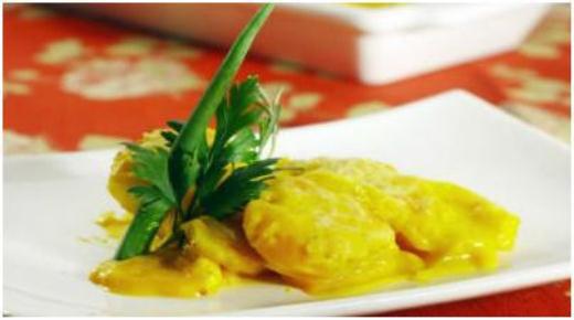 Batatas ao molho curry