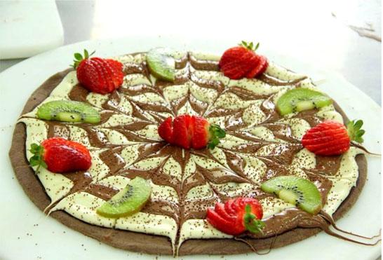 Pizza Mesclada de Chocolate