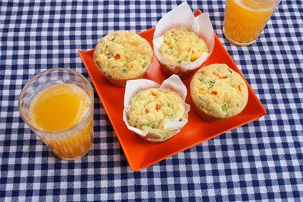 Muffin de Arroz Integral com Legumes