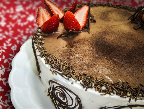 Torta de morango Zero Açúcar