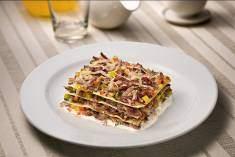Lasagna de carne de charque