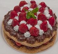 Mil Folhas de Chocolate com Morango