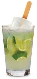 Caipira de Limão com picolé