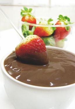 Fondue de Chocolate com Creme de Avelã (Zero Açúcar)