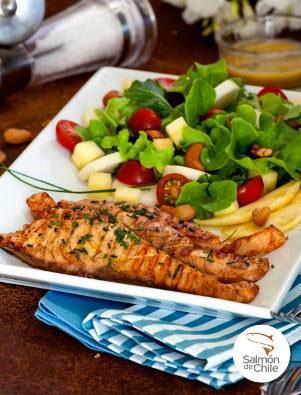 Salada fresca de Salmón de Chile
