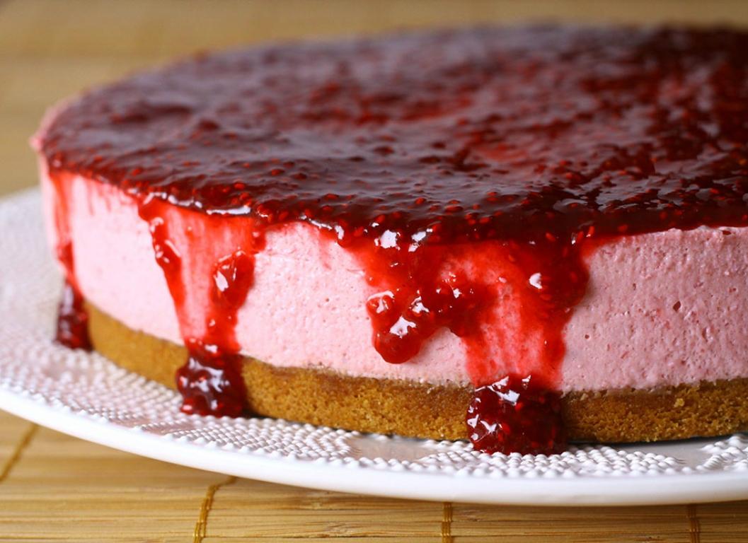 Torta de Framboesa (Cheesecake)