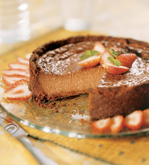 Chessecake de Danette sabor Chocolate Light e morango