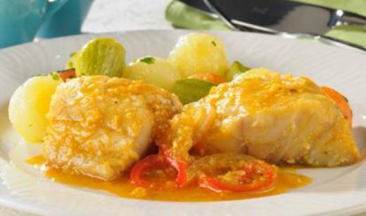 Bacalhau Marcomar com batatas