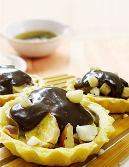 Torteletes de banana com Creme de Avelã (Zero Açúcar)