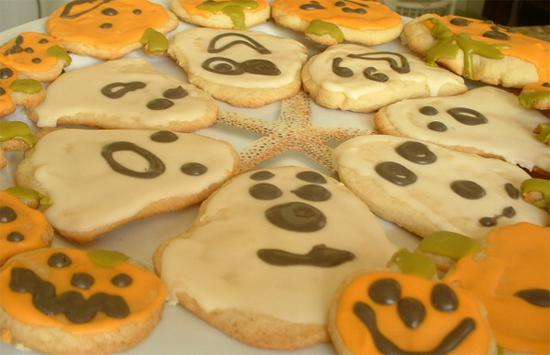 Biscoitos Fantasmas (Halloween)