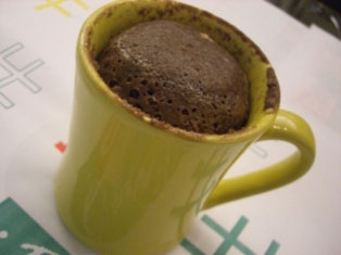 Bolo de caneca de chocolate