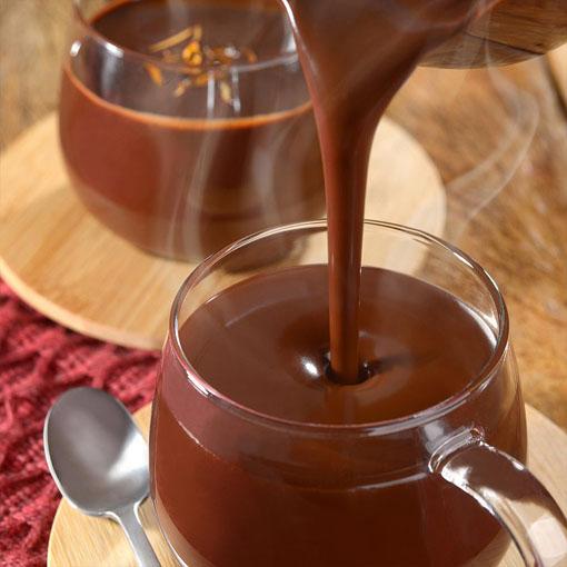 Chocolate quente aveludado