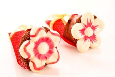 Cone primavera trufado de chocolate