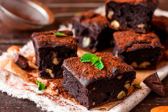 Brownie de chocolate fit