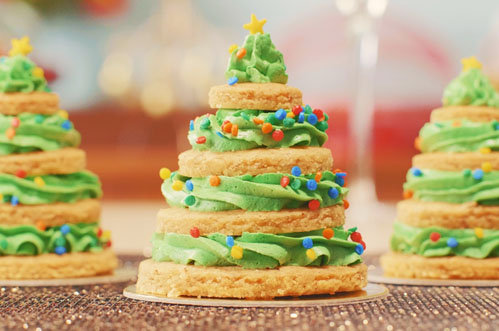Receita União: Árvore de Natal de Biscoito com Glacê