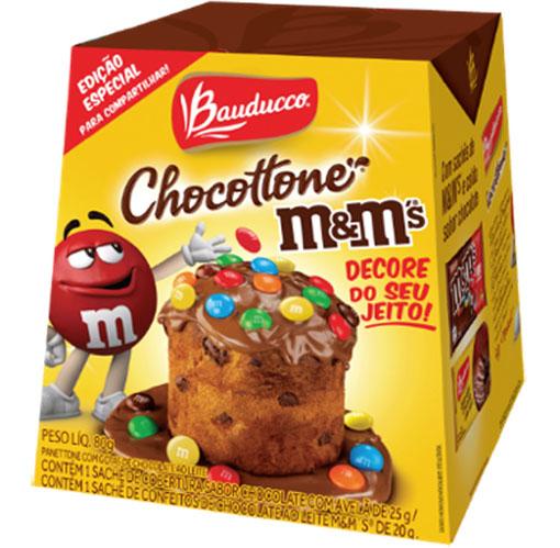 Bauducco e Mars lançam Mini Chocottone® M&M's