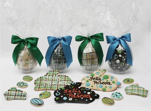 Bolachas decoradas - Ovinhos de páscoa