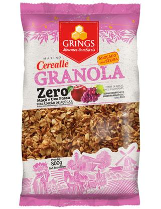 Grings lança Matinal Cerealle Granola Zero com Stevia