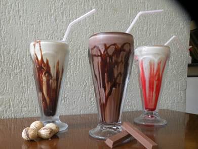 Milkshake para refrescar os dias quentes