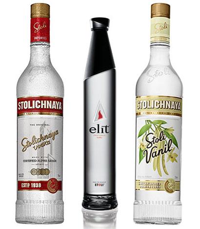 Stoli Premium, elit™ by Stolichnaya® e Stoli Vanil