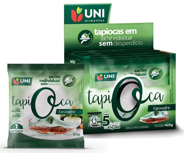 Uni Alimentos participa da APAS com lançamento da Tapioca de Espinafre